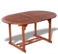 Ausziehbar Esstisch Gartentisch Akazienholz Esszimmertisch Küchentisch (150-200)x100x74cm für Terrasse Naturholzfarbe