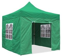 JOM Falt-Pavillon, m, Profi Ausführung, Material Oxford 420 D, Wasserdicht, Seitenwände, Befestigung mit Reisverschluß