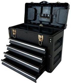 METALL Werkzeugkiste mit 8 Funktionen WK1-B BLACK EDITION von AS-S