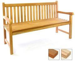 3-Sitzer Gartenbank 150 cm aus hochwertigem massivem Teak-Holz reine Handarbeit Sitzbank für 3-Personen