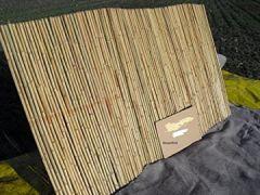 Rollzaun Bambuszaun Matte 400 x 100 cm , 33/35 mm