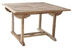 Teak Holz Gartentisch, Balkontisch, 120 170 X Cm, Massiver, Ausziehbarer