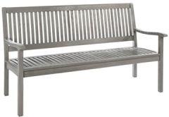 Canberra Gartenbank 3 Sitzer, Massivholzbank mit Rückenlehne, & Balkon, Sitzbank aus Eukalyptusholz ca.152 66 86 cm