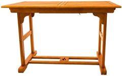 Gartentisch ausziehbar Holz rechteckig 120/160x 70cm Velden