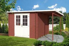 Gartenhaus GLORIA + 150 Schleppdach Blockhaus x Holzhaus 28mm