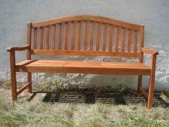 Gartenbank, mit ausklappbarem Tisch, massives Eukalyptusholz