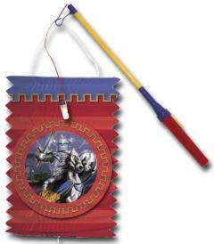 Schwarzer Ritter mit elektr. Laternenstab, Lampion zum laufen Palandi