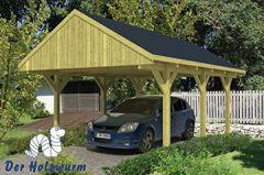 Einzelcarport mit Satteldach (600 x 400 cm