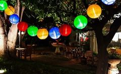 Solar Lichterkette 30er led Lampion Laterne für Party, Garten, Weihnachten, Halloween, Hochzeit, Beleuchtung Deko Innen und Außenbereich usw. Wasserdicht 6M (mehrfarbig