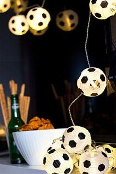Fußball Lampion Lichterkette mit 20 LED's, warmweiß
