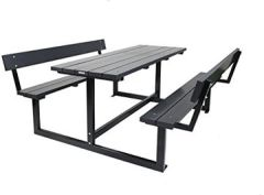 City' Design anthrazit 180 cm, Rückenlehne, Kiefernholz Stahlgestell, moderner
