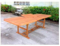 Gartentisch ausziehbar Holz rechteckig 180/260x 100Baden