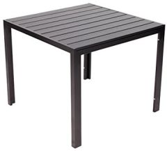Alu-Gartentisch Helsinki, Polywood mit Aluminiumgestell, schwarz, ca. x cm