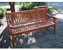 Gartenbank New Jersey, 2-Sitzer, Holzbank aus Eukalyptus FSC 120 cm