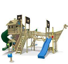 Klettergerüst NeverLand Gold Edition - Spielturm mit Turborutsche