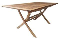 Ramsey Gartentisch 110-160/90 cm Klapptisch Holztisch Eukalyptus FSC 100