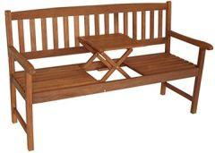 Gartenbank mit Tisch SAIGON, hochwertiges Eukalyptus Hartholz