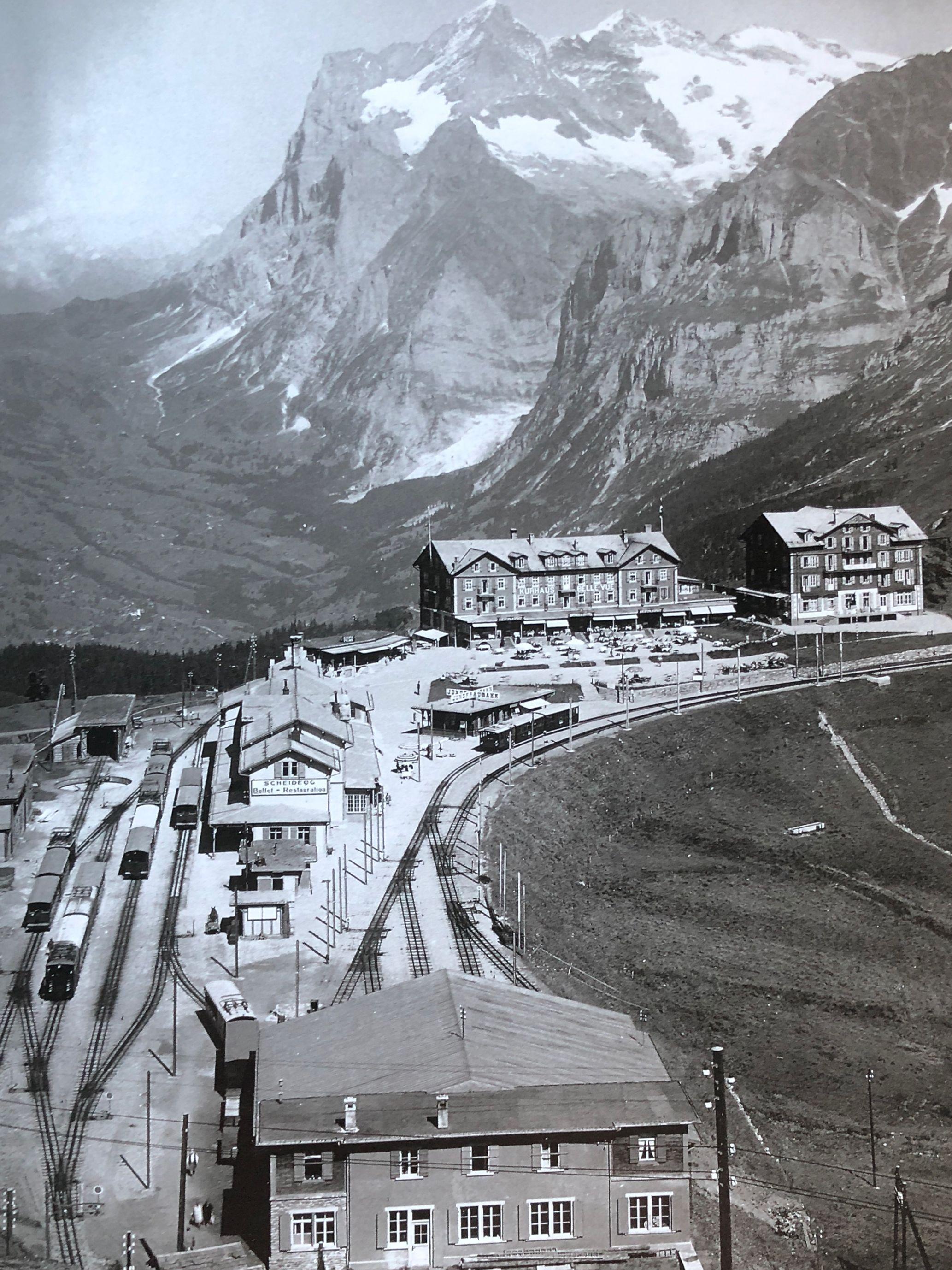 Der Bahnhof Kleine Scheidegg damals