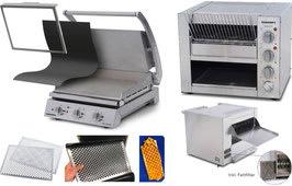 Komplettset Professionelle Burger-Station mit Grill GSA815S-F inkl. Zubehör und Eclipse Bun Toaster ET315-F