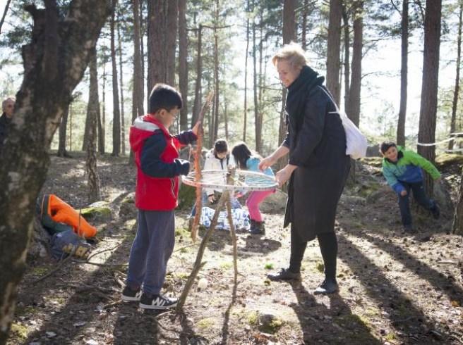 Barn tar risker i Ballongen