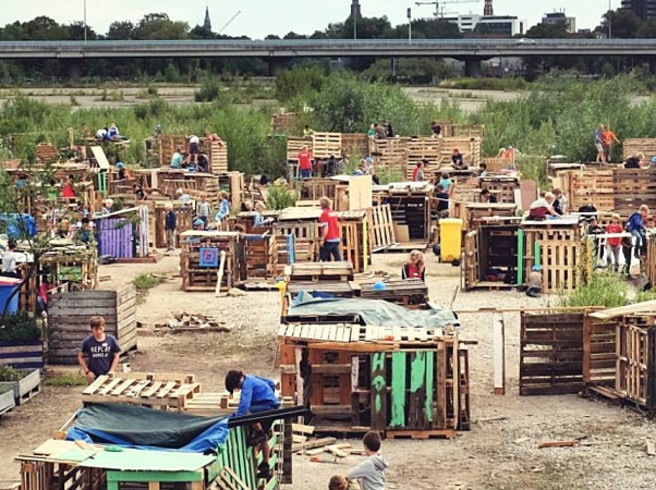 Dutch Kids Built An Entire Village In 4 Days