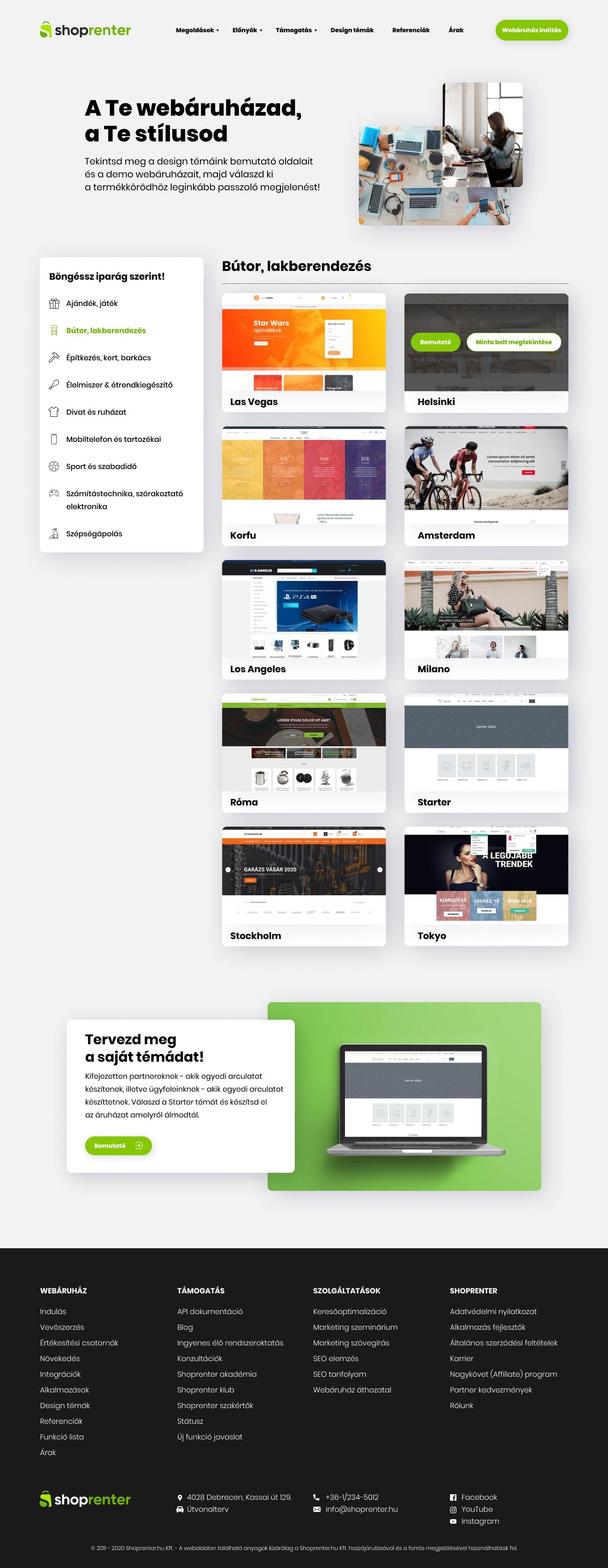 UI dizájn a Shoprenter számára