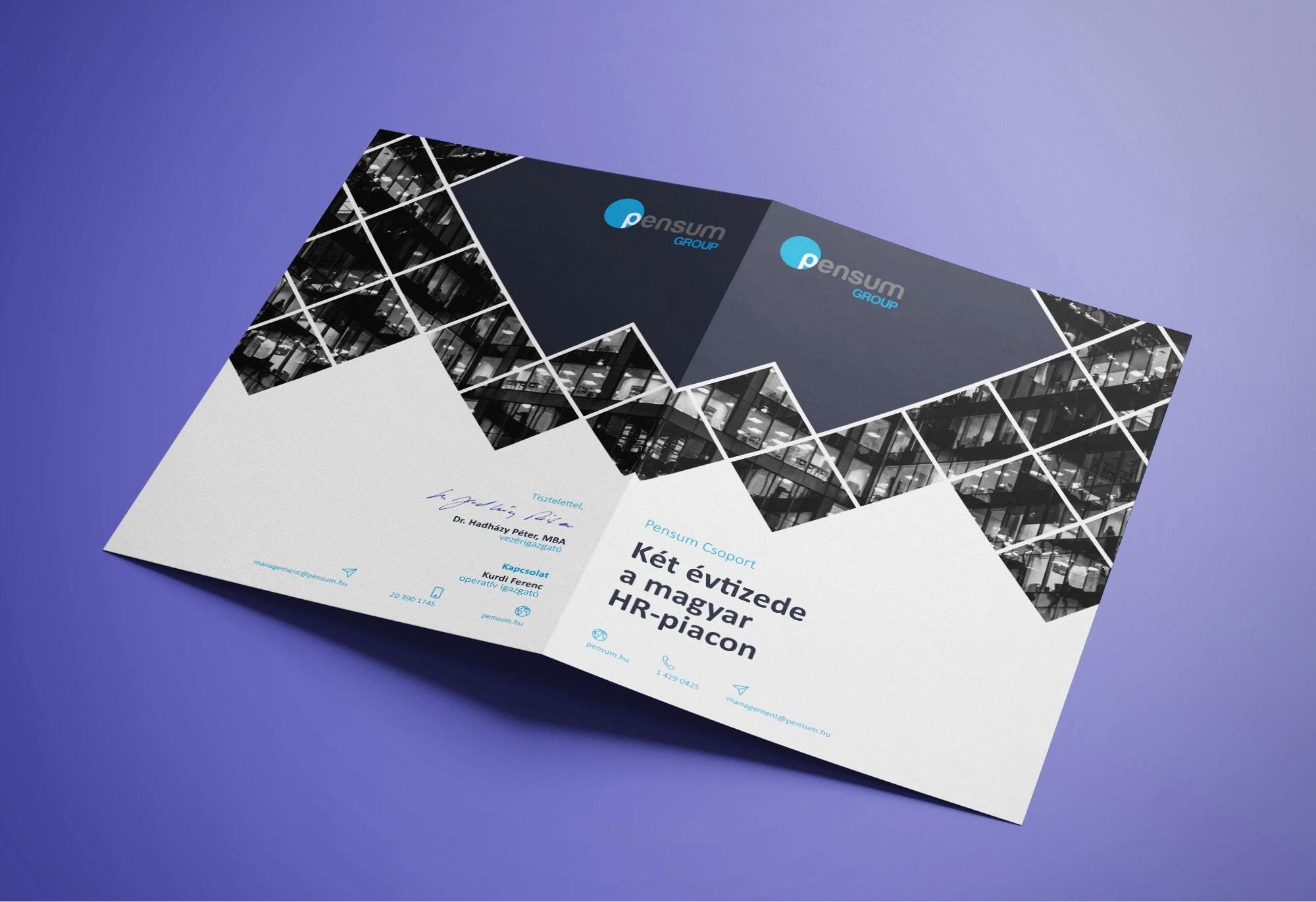 Pensum Group print dizájn