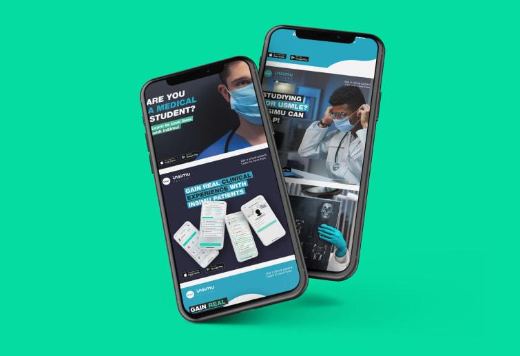 Insimu Patient social media megjelenés dizájnja