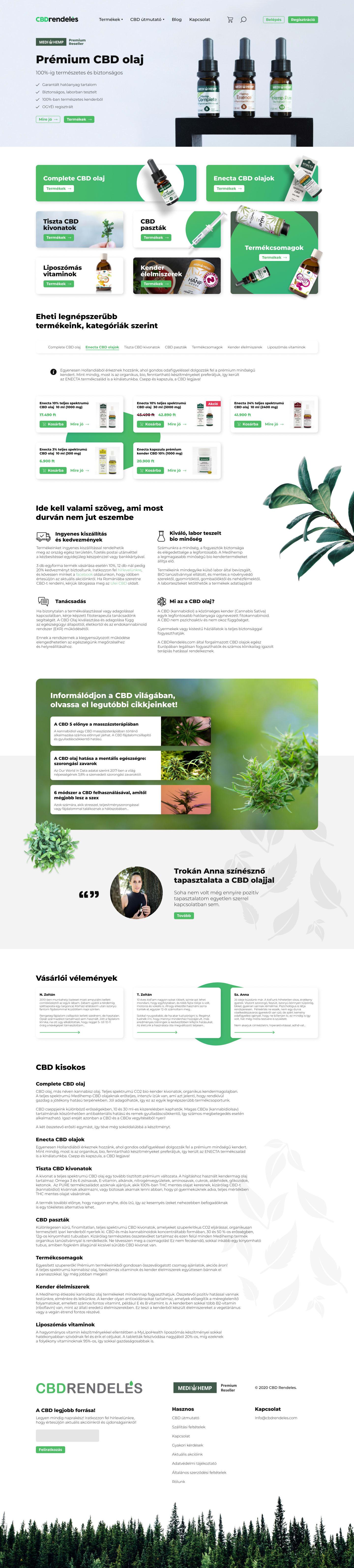 CBDrenedeles.com UI dizájn és logó