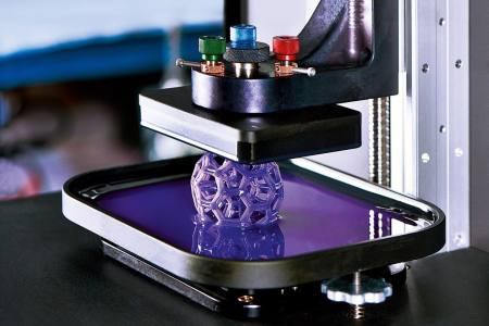 Manufacturing 3-dimensional solid objects from a digital file under computer control.