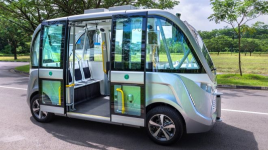 Autonomous cars, trains and buses without a human operator, reducing accidents and environmental problems.