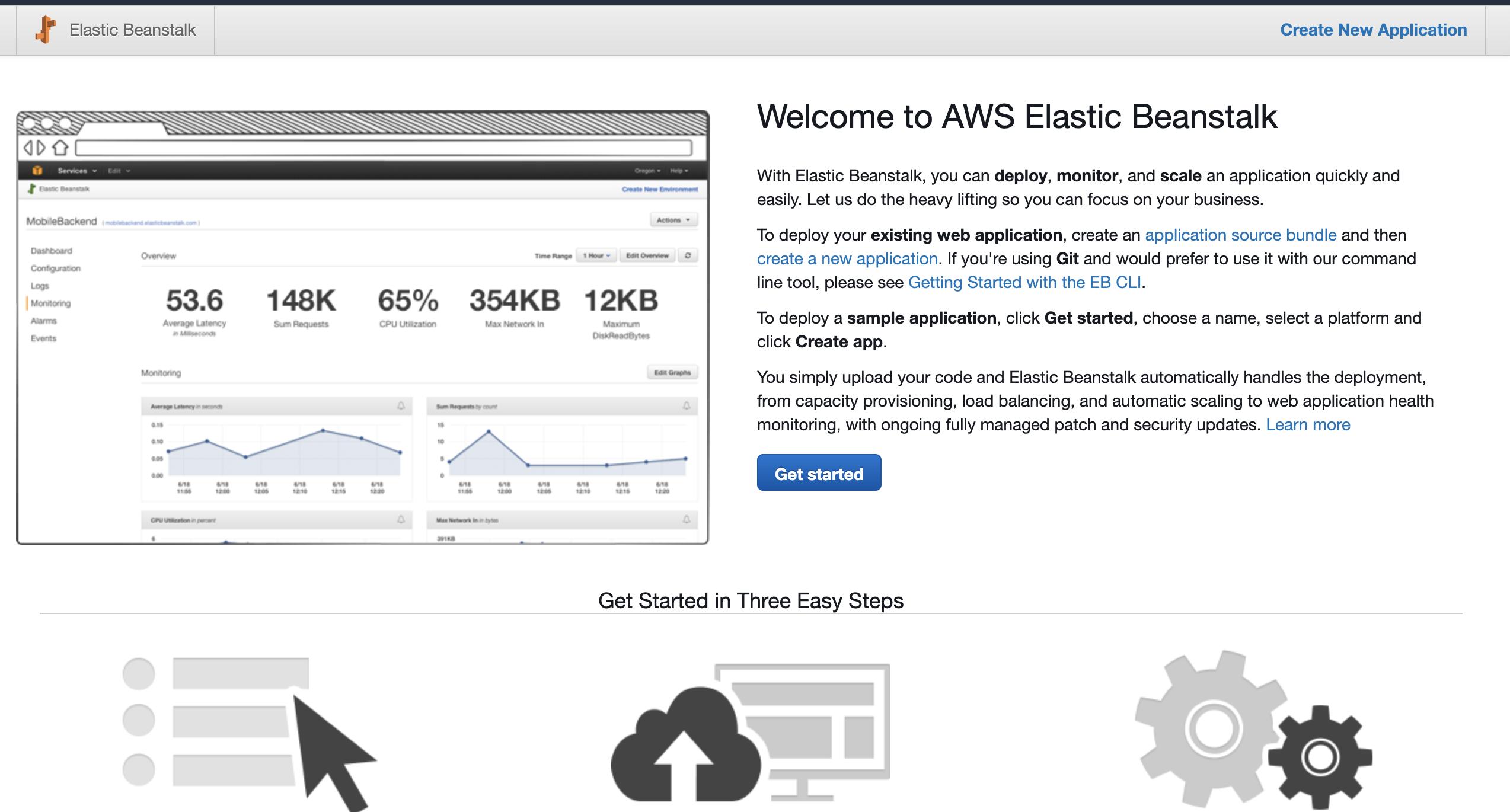 AWS Elasticbeanstalk console