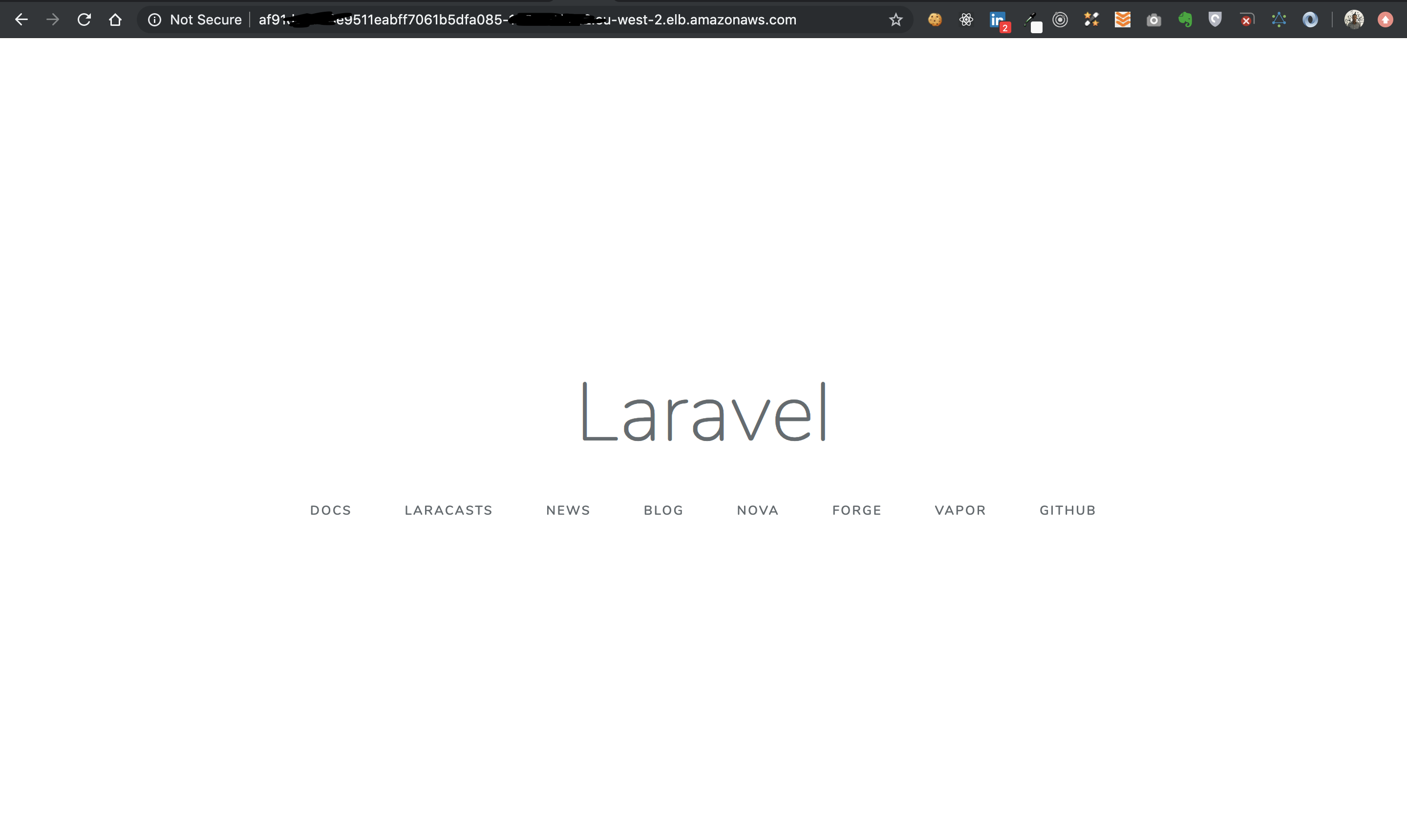 Laravel on Amazon EKS