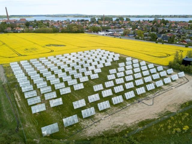 Heliac solar field in Møn