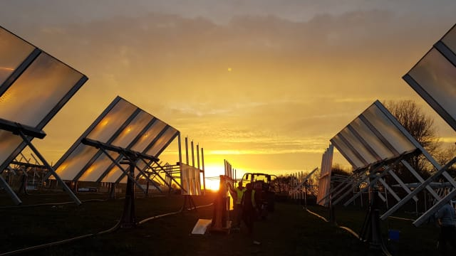 Heliac solar field in Møn