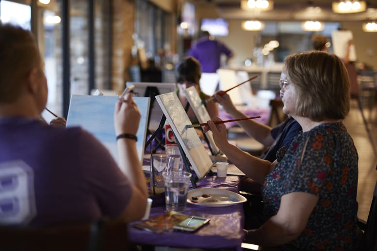 GCU paint and sip events