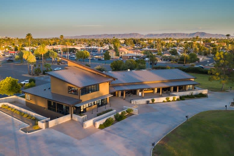 golf clubhouse aerial