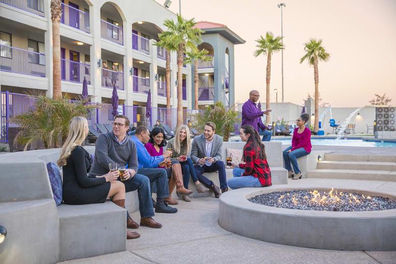 Guests enjoying outdoor patio