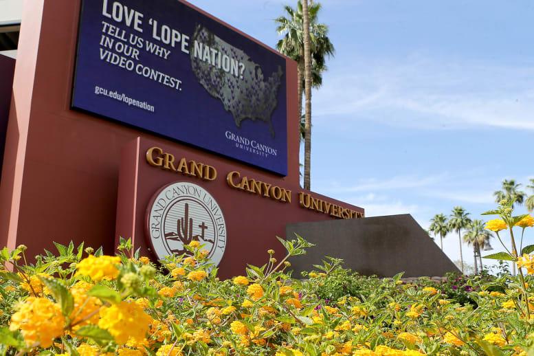 Grand Canyon University campus sign