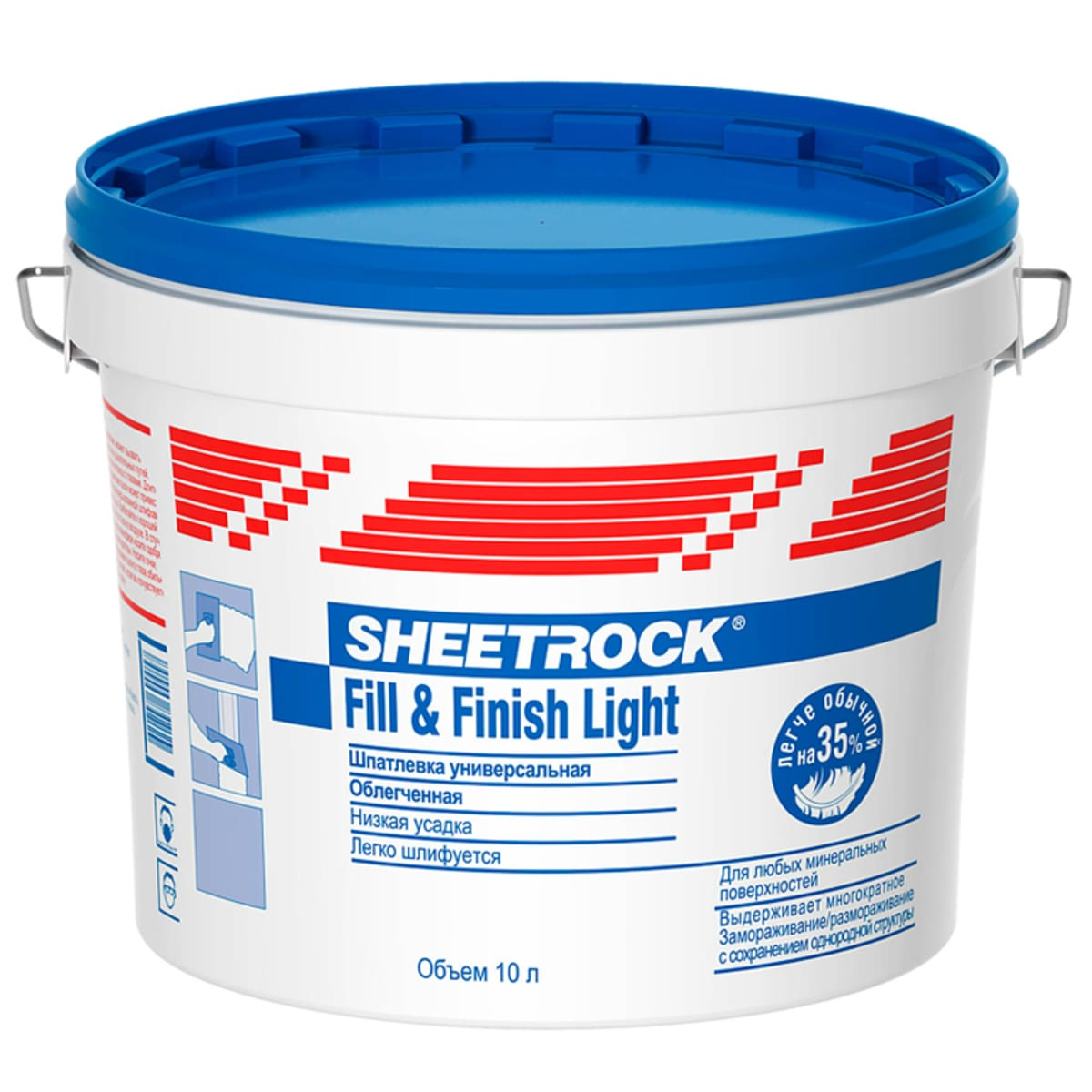 Купить Sheetrock Danogips Fill&Finish Light, 10 л