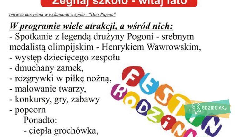 Festyn na zakończenie szkoły na Pogodnie. - atrakcje dla dzieci w Szczecinie