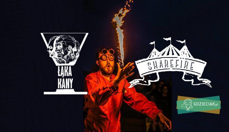 Wieczorne Fireshow na Łące Kany - atrakcje dla dzieci w Szczecinie