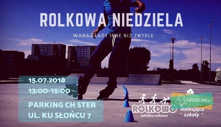 Rolkowa niedziela na parkingu CH Ster - atrakcje dla dzieci w Szczecinie