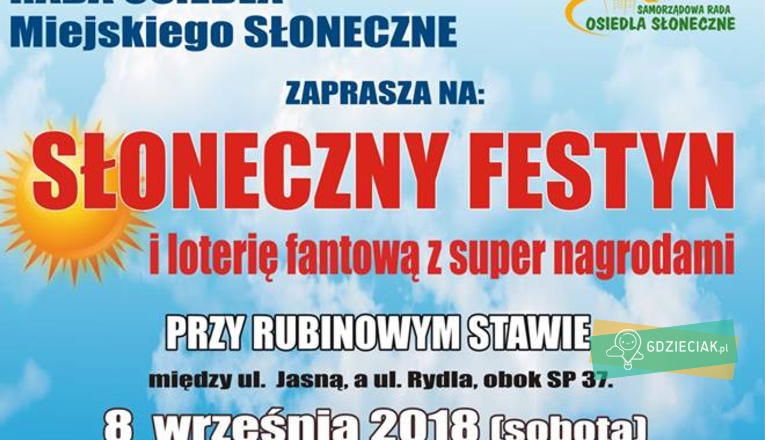 Słoneczny festyn przy Rubinowym Stawie - atrakcje dla dzieci w Szczecinie