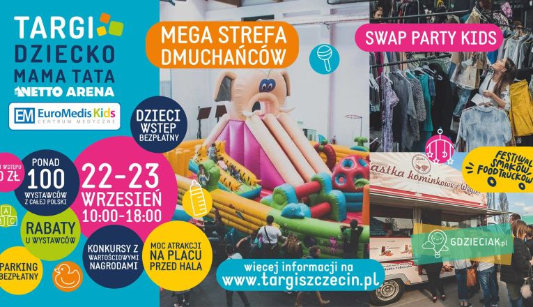 Swap Party KIDS w Netto Arenie - atrakcje dla dzieci w Szczecinie