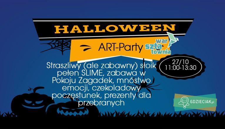 Halloween art-party w Warsztatowni - atrakcje dla dzieci w Szczecinie