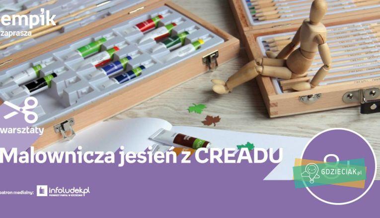 Warsztaty jesiennych pejzaży materiałami Creadu - atrakcje dla dzieci w Szczecinie