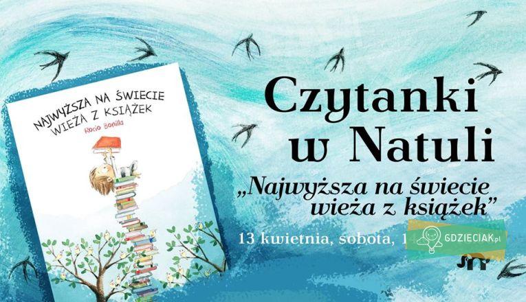Czytanki w Natuli: Najwyższa na świecie wieża z książek - atrakcje dla dzieci w Szczecinie