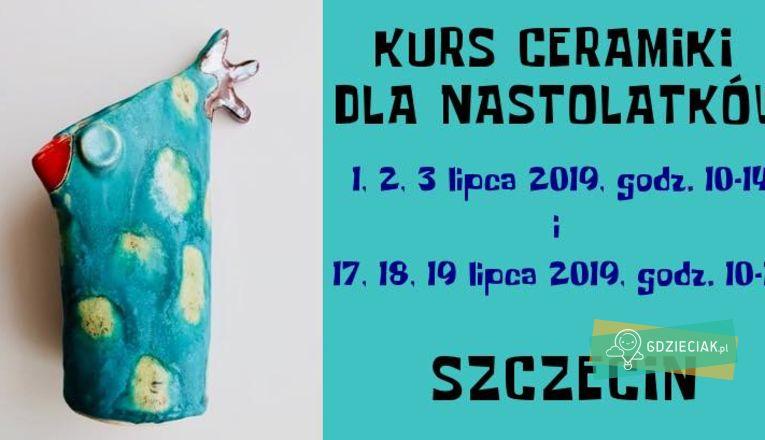 Kurs ceramiki dla nastolatków - atrakcje dla dzieci w Szczecinie