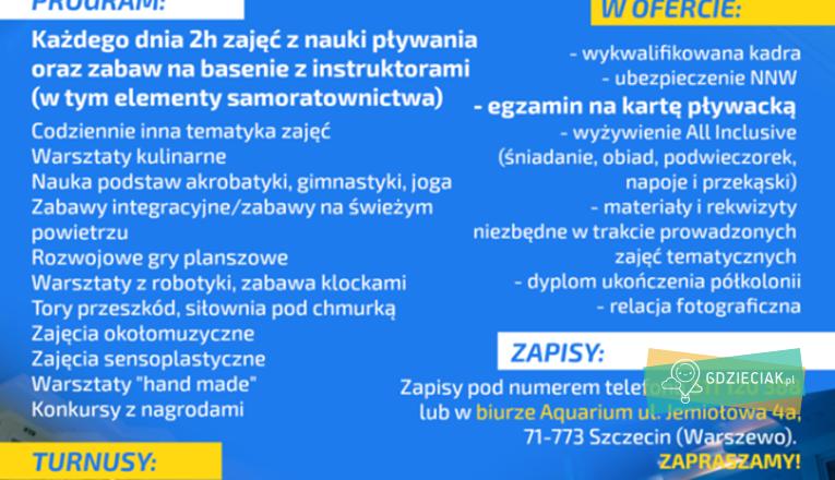 Wakacje w Aquarium - atrakcje dla dzieci w Szczecinie